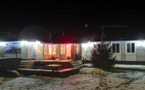 гостевой дом №1 ранней зимой, ночь