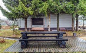 скамейка и стол